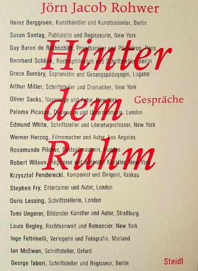 Rohwer's first book containing biographical conversations with international artists, icons & intellectuals (320 pgs., Steidl, Göttingen 2005)