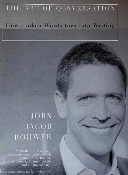 Brochure published alongside Rohwer's lectures in New York City and Los Angeles containing a theme-essay and Rohwer's biographical conversation with American dramatist Arthur Miller (12 pgs., The Shugrue Cultural Foundation, NYC 2006)